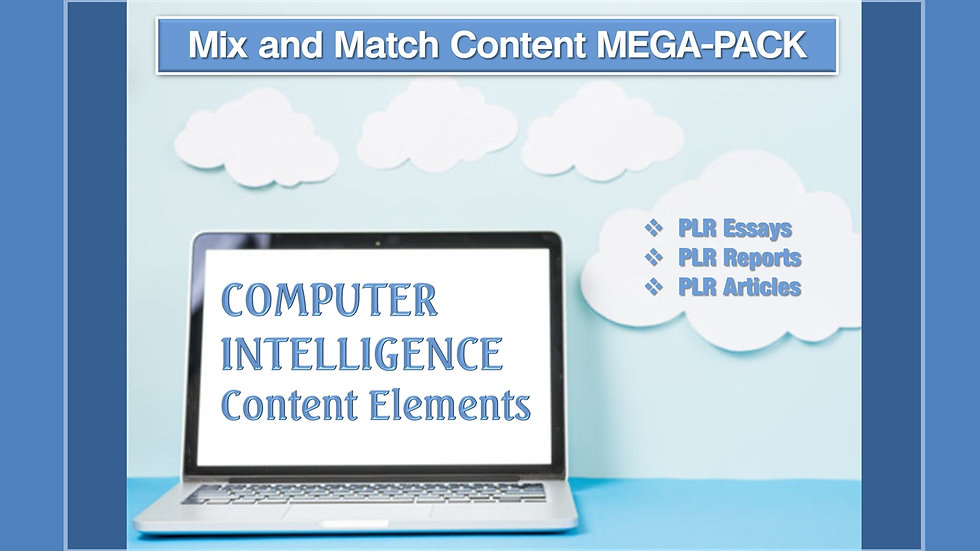 Computer Intelligence Mix and Match CONTENT Collection