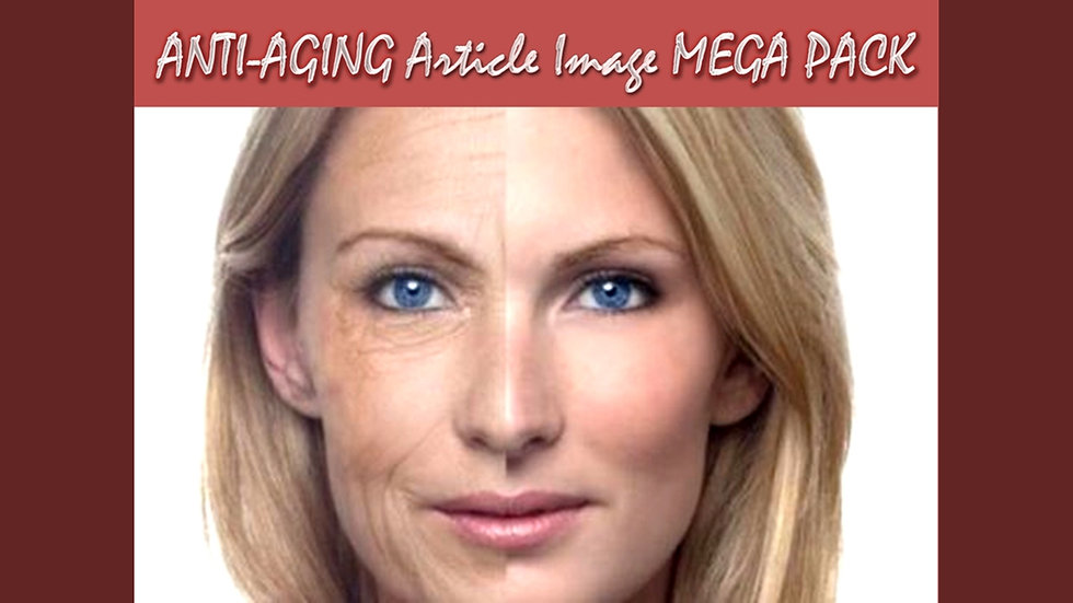 Anti-Aging PLR Article and Image MEGA Pack