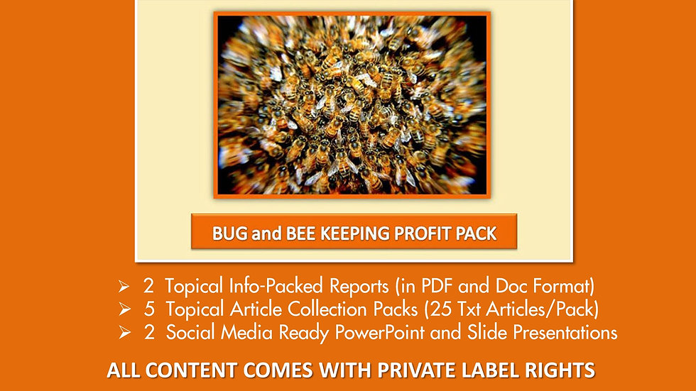 Bug and Bee Keeping Private Label Profit Pack
