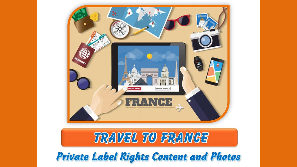 Travel to France Private Label Photo Essay Pack