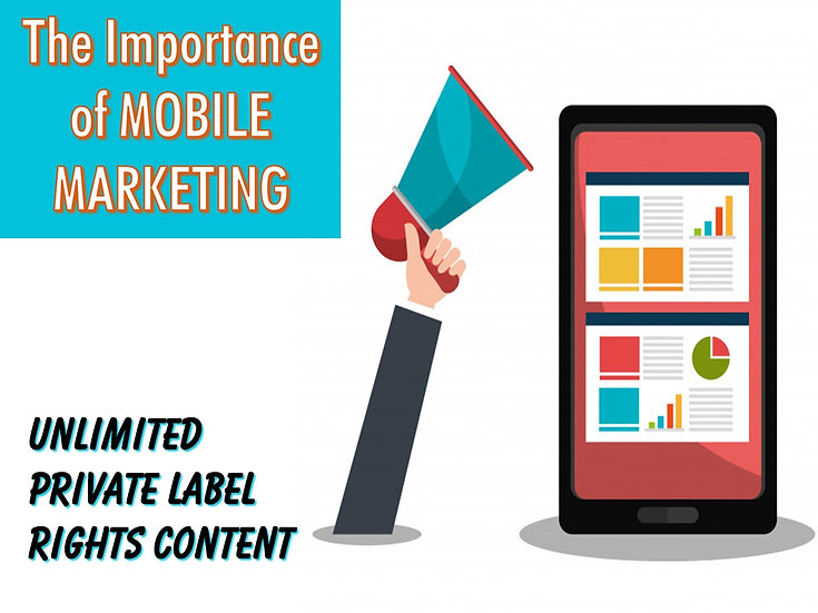 The Importance of Mobile Marketing Unlimited PLR Pack