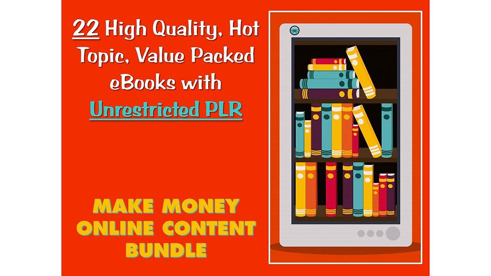 22 Business Building eBook Bundle with UNRESTRICTED PLR
