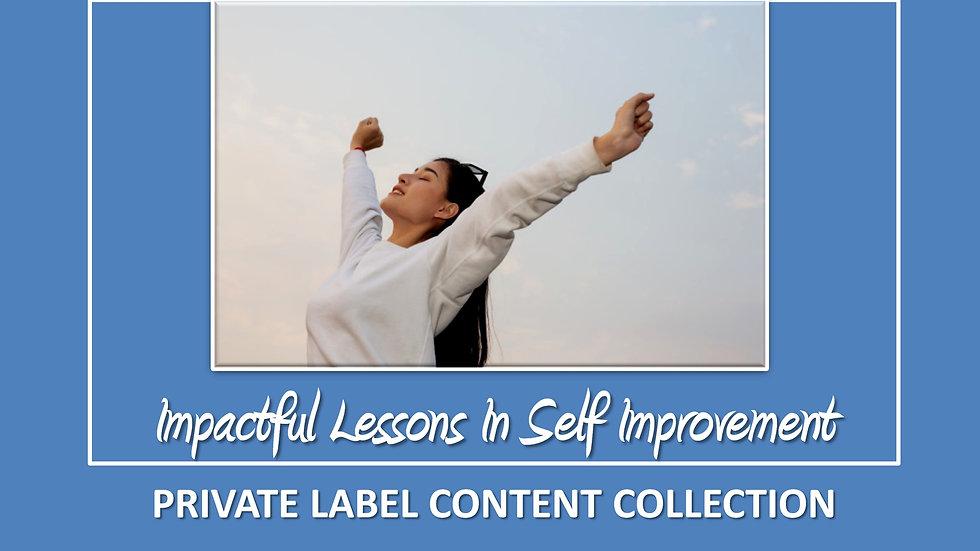 Impactful Lessons In Self Improvement PLR Pack