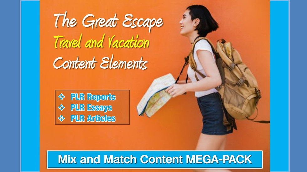 Travel and Vacation Mix and Match CONTENT Collection