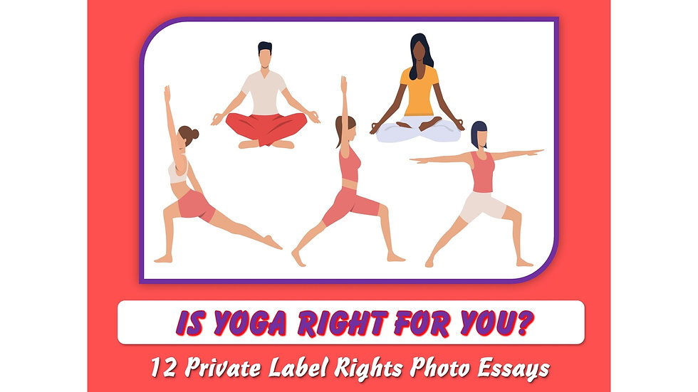 Is Yoga For You? Private Label Content Pack