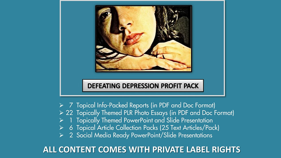 Defeat Depression Private Label Profit Pack