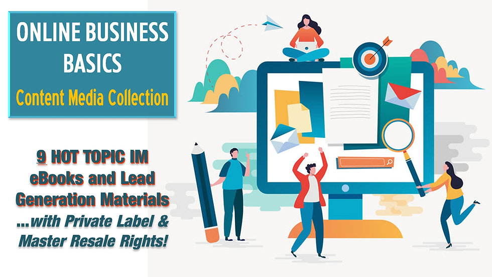 Online Business Basics Content Media Collection