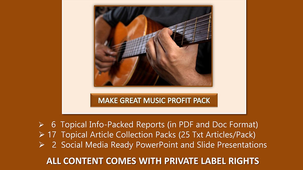 Make Great Music Private Label Profit Pack