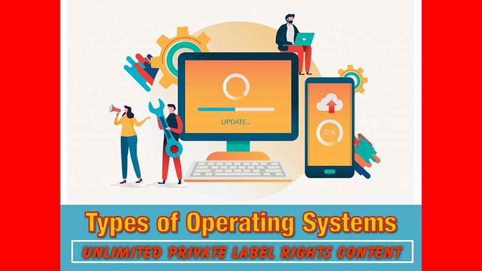 Types of Computer Operating Systems Private Label Content Pack