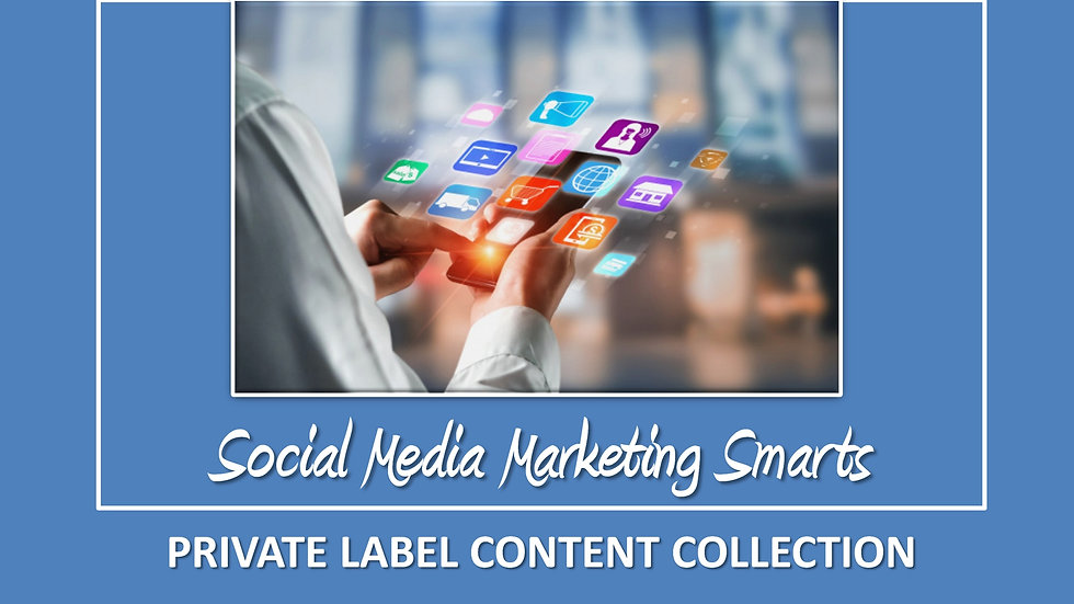 Social Media Marketing Mix PLR Pack
