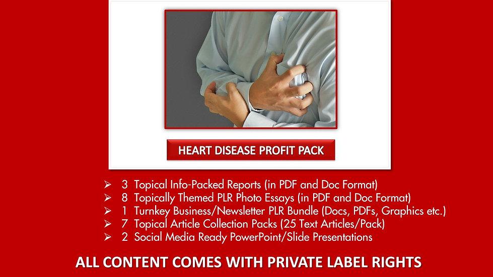 Heart Disease PLR Profit Pack