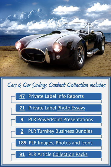 Cars and Car Savings Content Portfolios