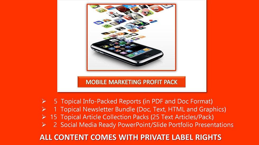 Mobile Marketing Private Label Profit Pack