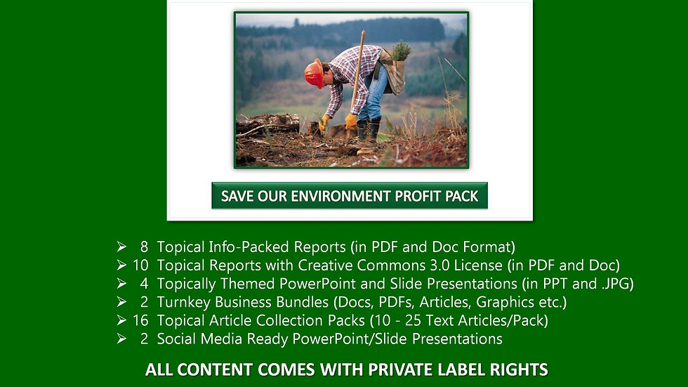Save Our Environment Private Label Profit Pack