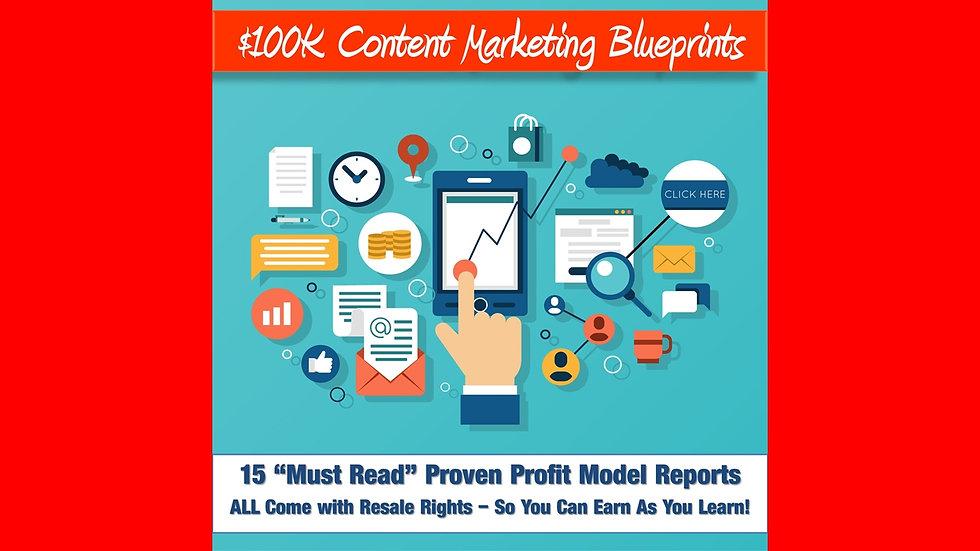 100K Content Marketing Blueprints