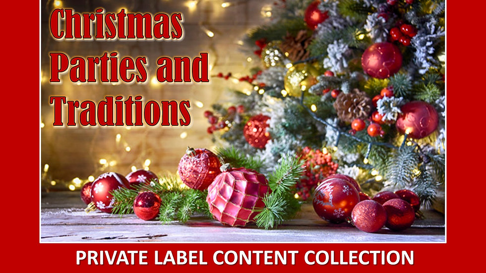 Christmas Parties and Traditions PLR Pack