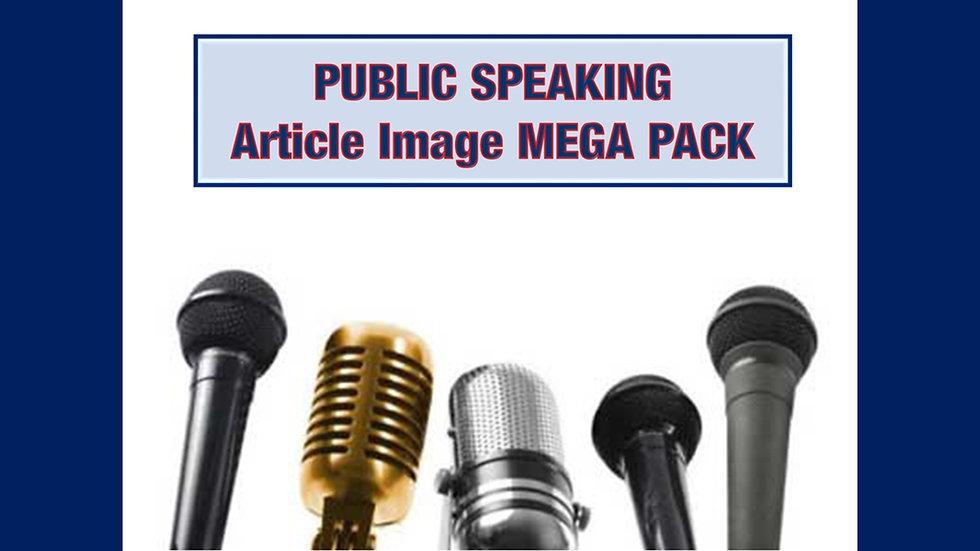 Public Speaking PLR Article and Image MEGA Pack