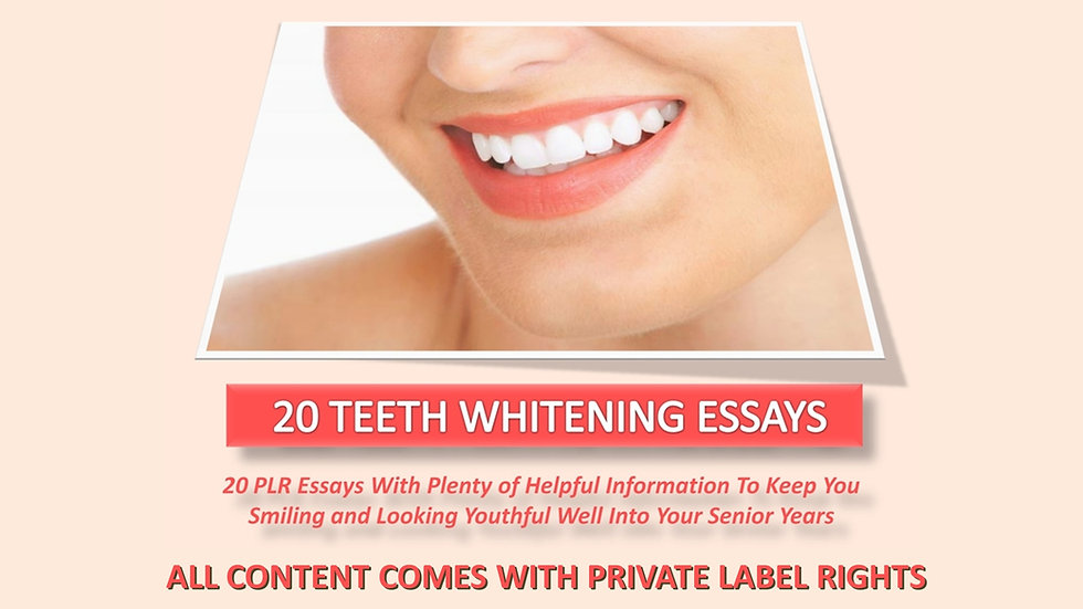 Teeth Whitening PLR Photo Essay Series
