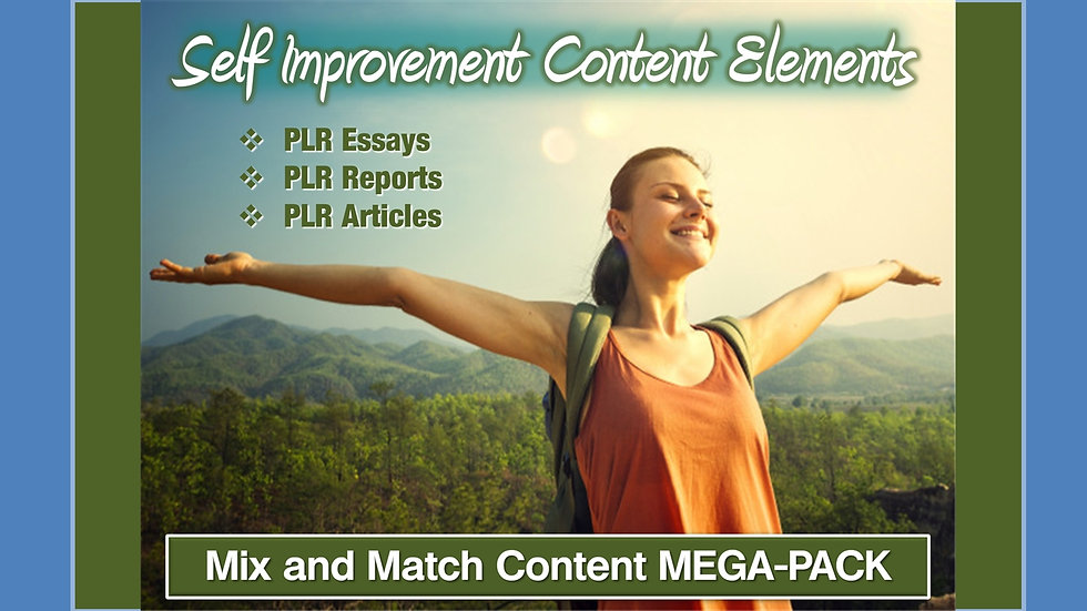Self Improvement Mix and Match CONTENT Collection