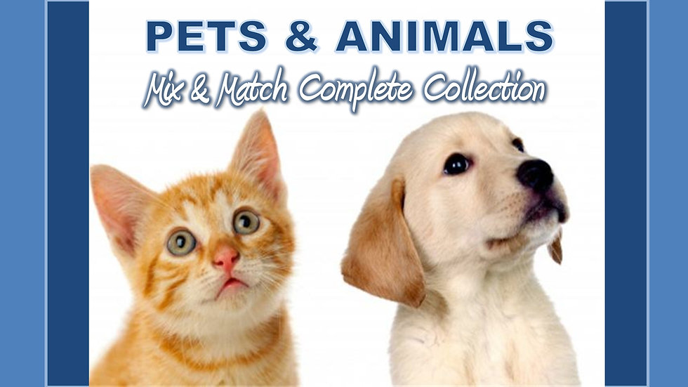 Pets and Animals Mix and Match COMPLETE Collection