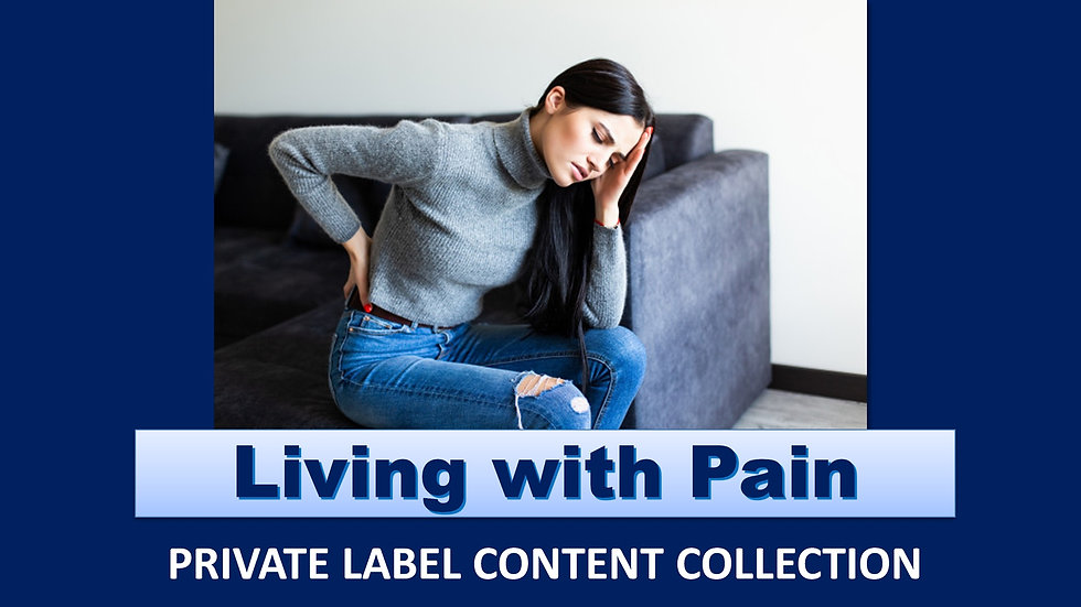 Living with Pain PLR Product Pack