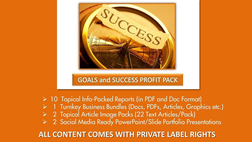 Goals and Success Private Label Profit Pack