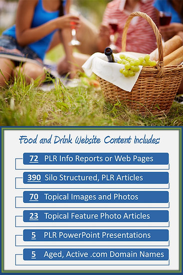 Food and Drink Turnkey Content Sites