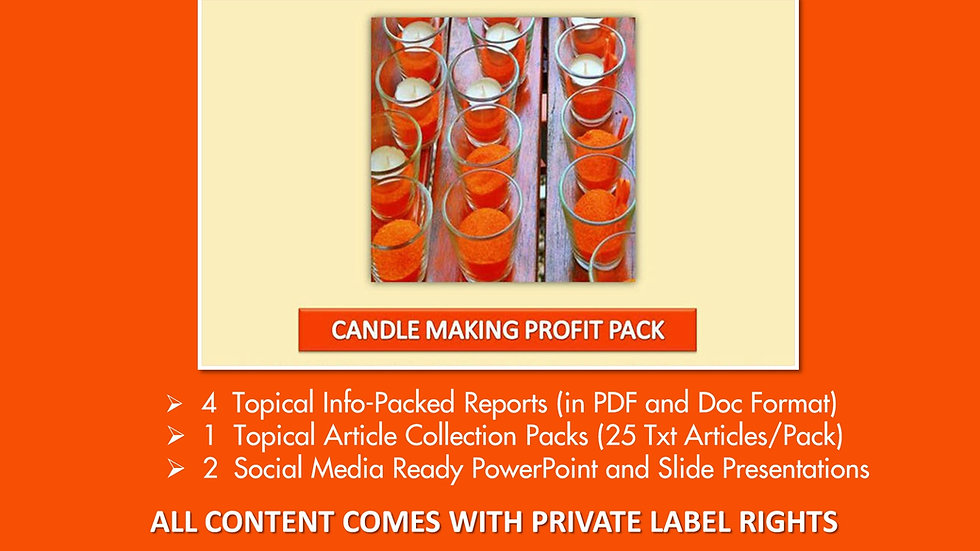 Candle Making Private Label Profit Pack
