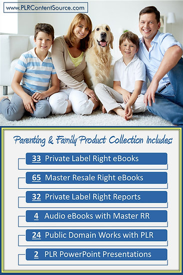 Parenting and Family Product Profit Packs