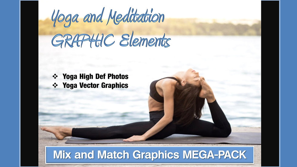 Yoga and Meditation Mix and Match GRAPHICS Collection