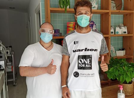 Ricky Martínez continúa su preparación en Mans de Sant