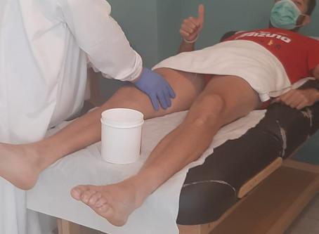 Ricky Martínez, a punto con la fisioterapia de Mans de Sant