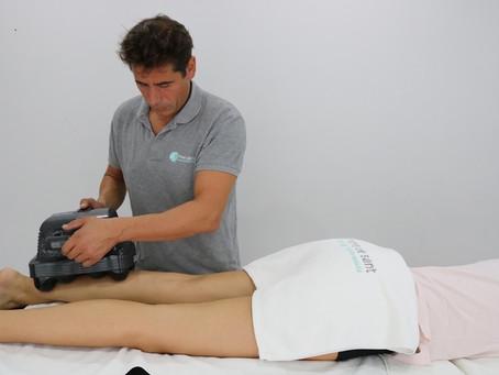 Fisioterapia con Thumper  para relajar la musuculatura