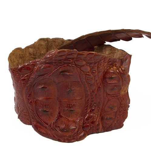 Ceinture large en croco