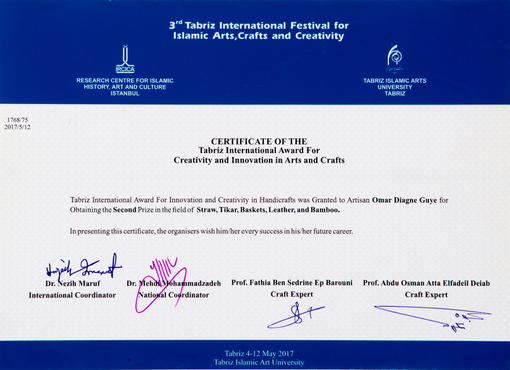Tabriz International crativity Award 2015