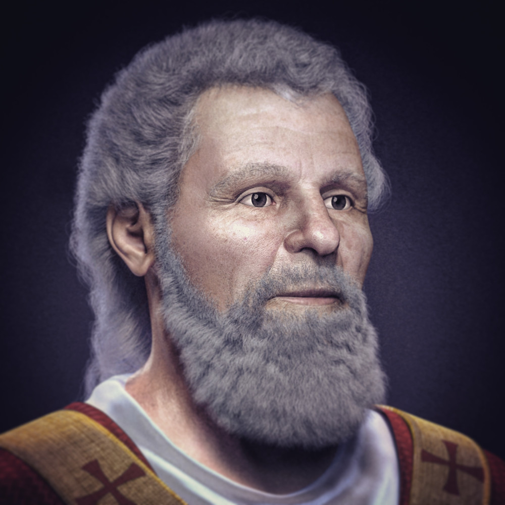Facial reconstruction of our man Valentine