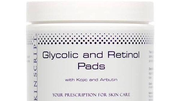 Skinscript Glycolic and Retinol Pads with Kojic Acid + Alpha Arbutin