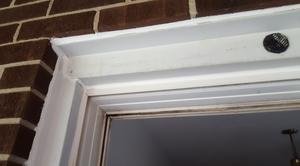 Resealed repaired window caulking