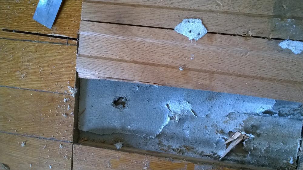 Asbestos under hardwood floor