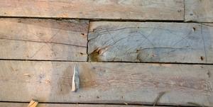 Rotten subfloor planks