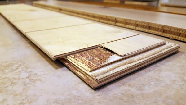 engineered hardwood chipped