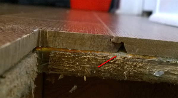 Foam underpad between subfloor and Engineered Hardwood