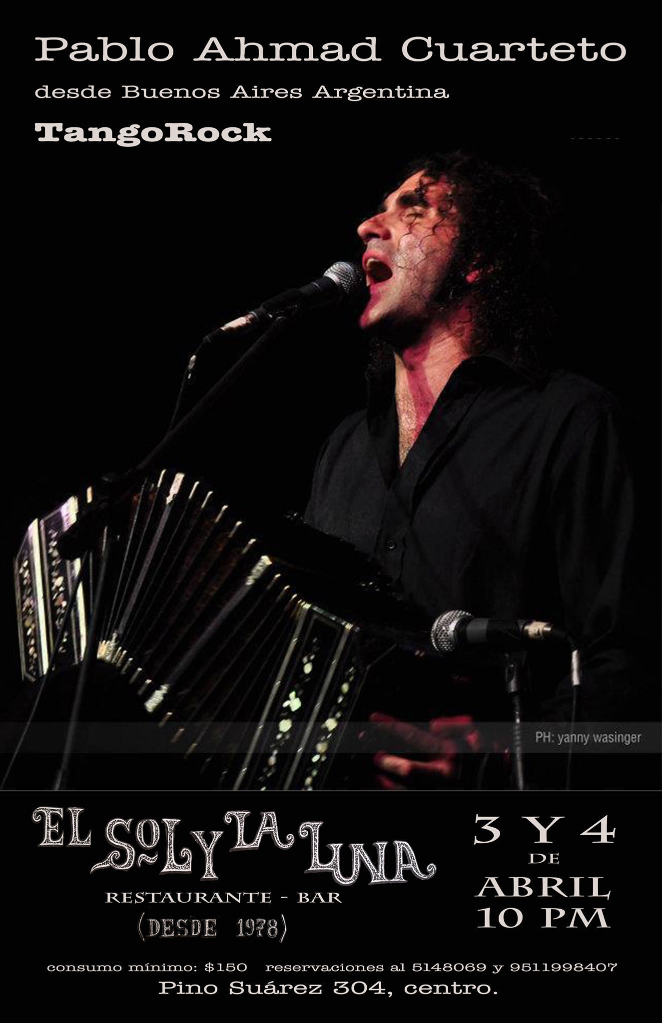 Pablo Ahmad y su cuarteto Tango Rock