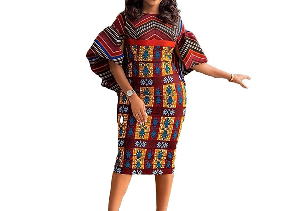2021 Polyester New Fashion African Dresses for Women Spring Autumn Dashiki