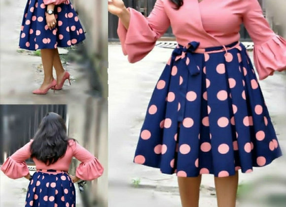 African Women  New Summer Elegent Fashion Style Printing Plus Size Polyester