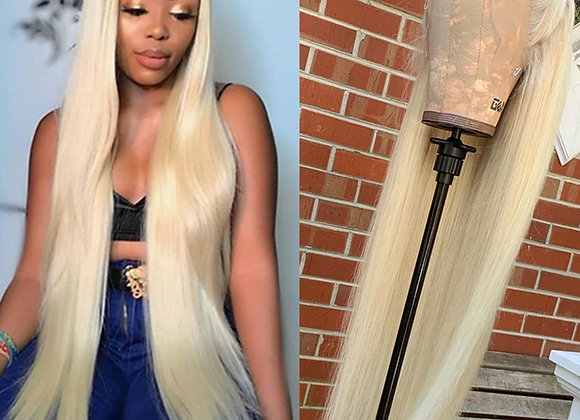 613 Lace Front Wig Human Hair Lace Frontal Wigs Blonde Wig Straight T Part Lace