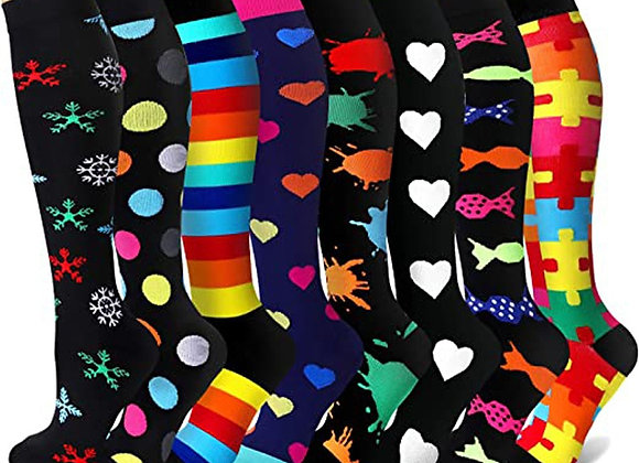 40 Styles Quality Unisex Compression Stockings Cycling Socks Fit for Edema, Diab