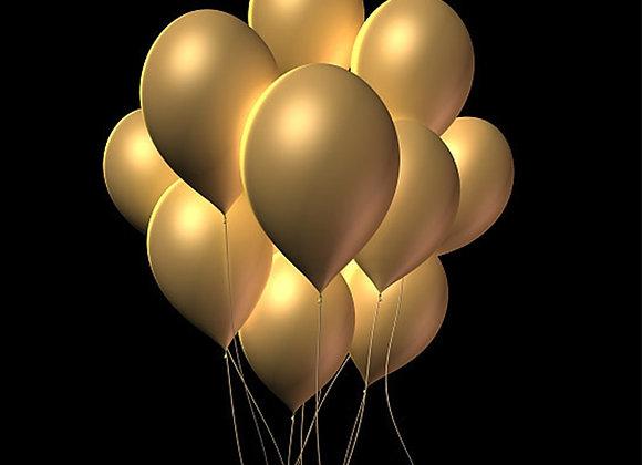 """5"""" 12"""" 30pcs Gold Balloon High Grade Chrome Metal Color Latex Balloon Wedding"""