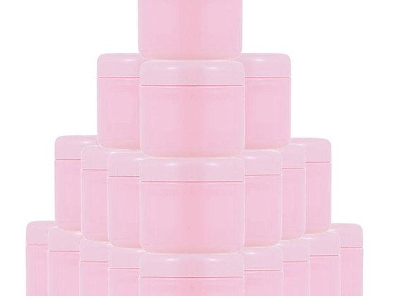 30/60Pcs 10g 20g 30g 50g 100g Refillable Bottles Pink Plastic Empty Makeup Jar P