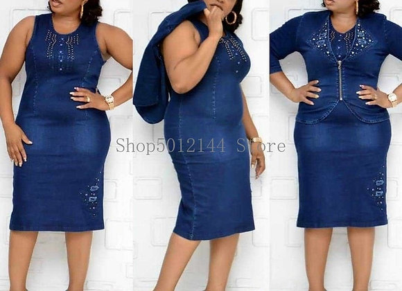 2 Two Piece Set African Dresses for Women Dashiki Plus Size Mom Clothing African